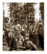Deer Hunters  With Rifles Circa 1917 Fleece Blanket