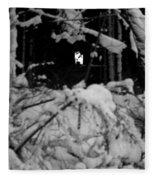 Deer Silhouette Fleece Blanket