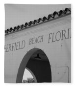 Deerfield Beach Florida Fleece Blanket