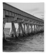 Deerfield Beach Pier Fleece Blanket