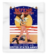 Defend Your Country Enlist Now  Fleece Blanket