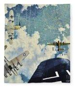 Defender. The Battle Of Berlin Fleece Blanket
