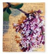 Defining Lilacs Fleece Blanket