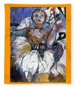 Degas Girl Fleece Blanket