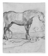 Degas, Horse.  Fleece Blanket