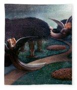 Degouve: Angels, 1894 Fleece Blanket