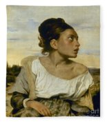 Delacroix: Orphan, 1824 Fleece Blanket