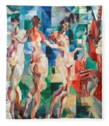 Delaunay: City Of Paris Fleece Blanket
