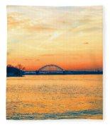 Delaware River Fleece Blanket