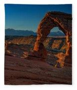 Delicate Arch At Sunrise Fleece Blanket