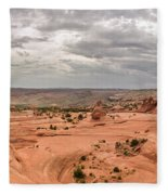 Delicate Arch Panoramic Fleece Blanket