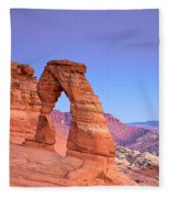 Delicate Arch Sunset Fleece Blanket