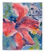 Delicate Butterfly Fleece Blanket