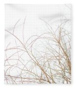 Delicate January Tree Branches Fleece Blanket