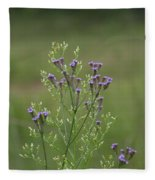 Delicate Lavender Verbena Wildflowers Fleece Blanket