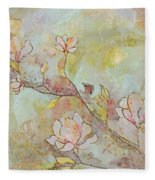 Delicate Magnolias Fleece Blanket