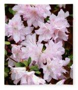 Delicate Pink Azaleas Fleece Blanket