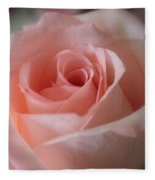Delicate Pink Rose Fleece Blanket