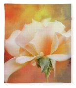 Delicate Rose On Color Splash Fleece Blanket
