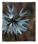 Delicate Silver Wildflower Fleece Blanket