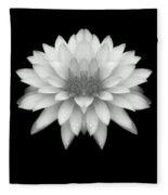 Delicate White Petals Fleece Blanket