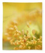 Delicate Yellow Poppy Fleece Blanket
