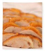 A Delicious Meal Of Roast Duck Fleece Blanket