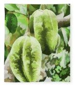Delicious Star Fruit Fleece Blanket