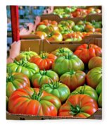 Delicious Tomatoes Fleece Blanket