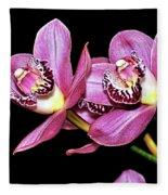 Delightful Orchid Fleece Blanket