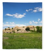 Dells And Lake Fleece Blanket