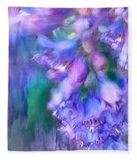 Delphinium Abstract Fleece Blanket