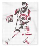 Demar Derozan Toronto Raptors Pixel Art 7 Fleece Blanket