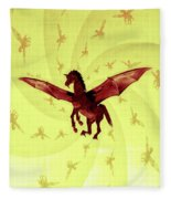 Demon Winged Horse Fleece Blanket