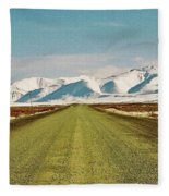 Dempster Highway - Yukon Fleece Blanket