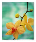 Dendrobium Fleece Blanket