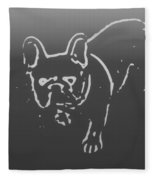 Butterfly The Frenchie Fleece Blanket