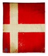 Denmark Flag Fleece Blanket