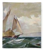Denny: Hay Schooner, 1871 Fleece Blanket