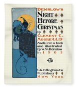 Denslows Night Before Christmas By Clement Moore Lld 1902 Fleece Blanket