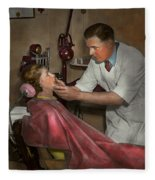 Dentist - Making An Impression - 1936 Fleece Blanket