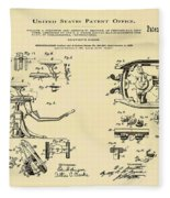 Dentists Chair Patent 1892 In Sepia Fleece Blanket