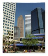 Denver Architecture Fleece Blanket