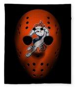 Denver Broncos War Mask 2 Fleece Blanket