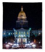 Denver Capital Nights Fleece Blanket