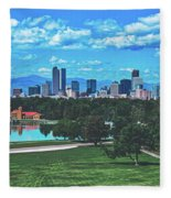 Denver City Park Fleece Blanket
