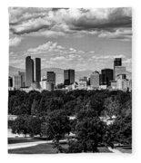 Denver Colorado Fleece Blanket