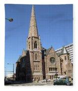 Denver Downtown Church Fleece Blanket