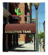 Denver Downtown Storefront Fleece Blanket