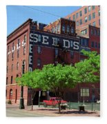 Denver Downtown Warehouse Fleece Blanket
